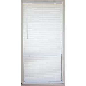 White Cordless 1 In Vinyl Mini Blind 36 In W X 64 In L