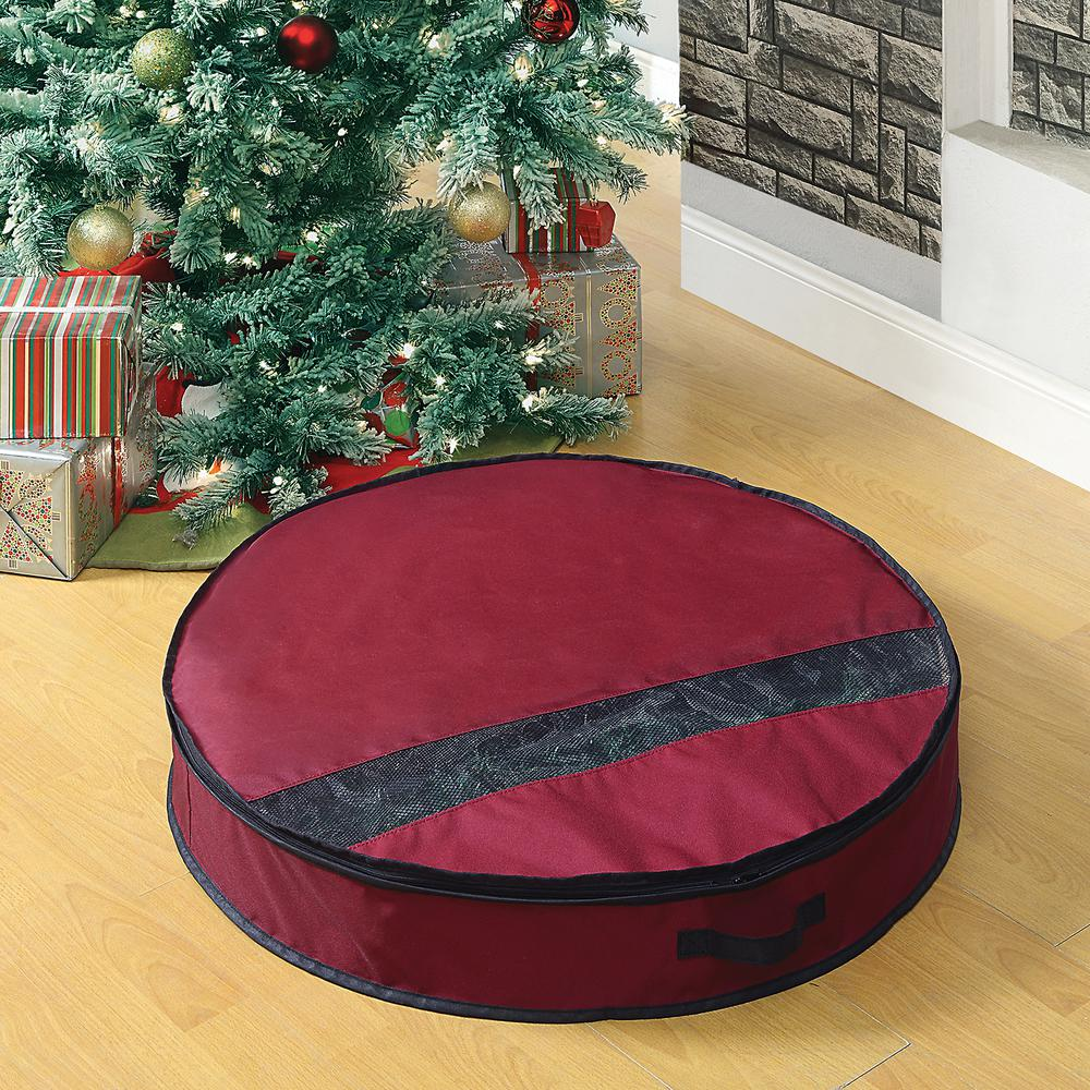 Neu Home Artificial Wreath Storage Bag For Up To 32 In