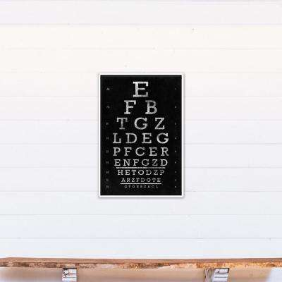 20 in. x 30 in. ''Vintage Eye Chart'' Printed Framed Canvas Wall Art
