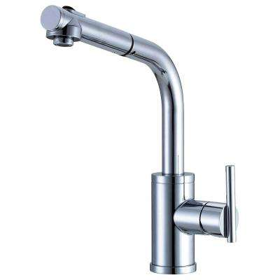 Parma Single Handle Pull Out Sprayer Kitchen Faucet In Chrome