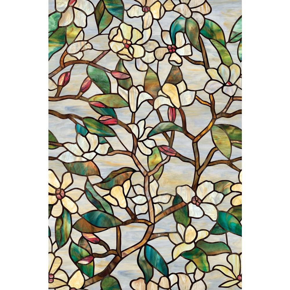 Artscape 24 in. x 36 in. Summer Magnolia Decorative Window Film