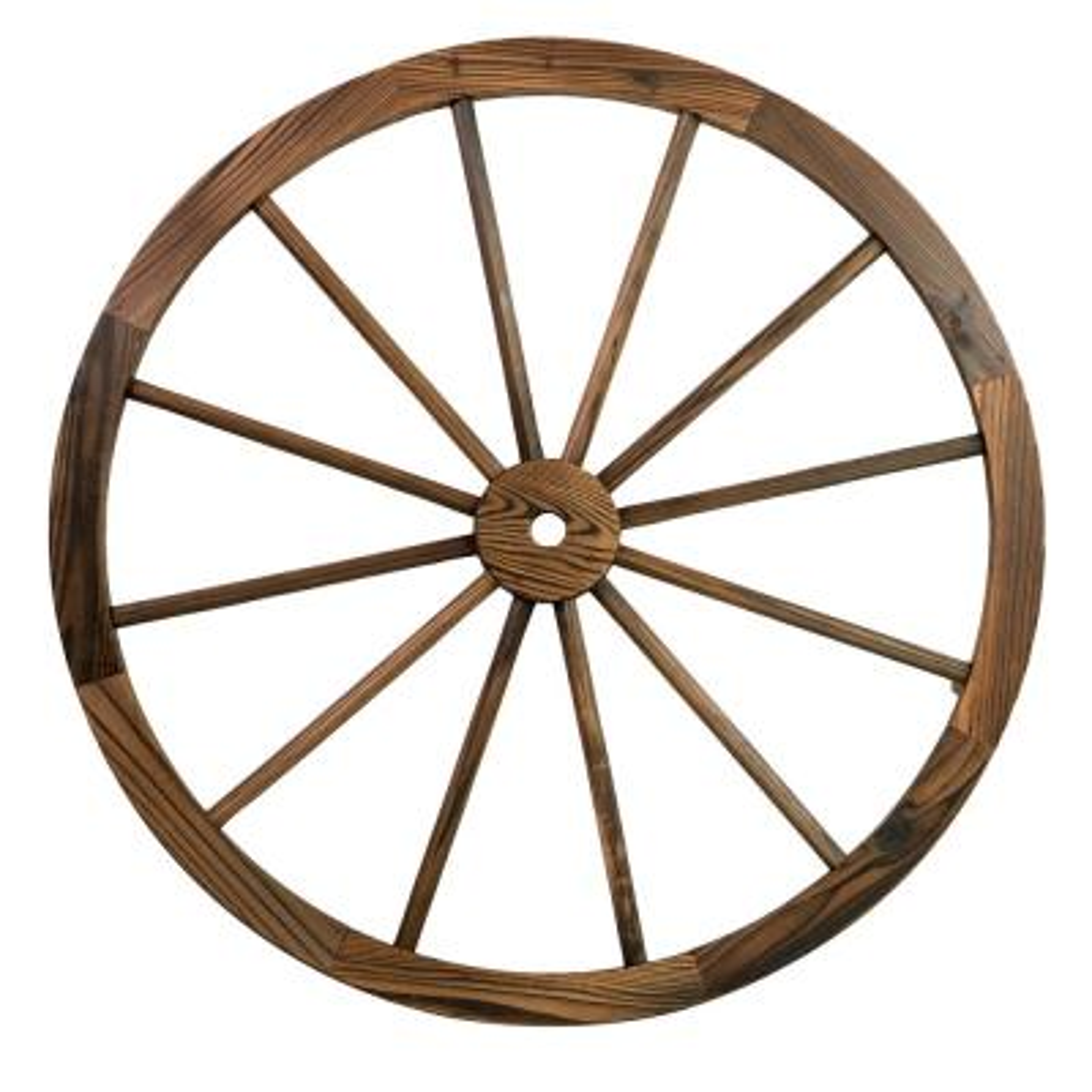 Patio Premier 32 in. Wooden Wagon Wheel in Rustic (2-Pack)