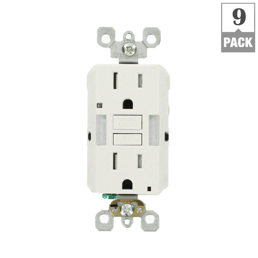 Electrical Outlets Receptacles Wiring Devices Light Controls Cost To Fix Outlet 15 Amp Self Test Smartlockpro Combo Duplex Guide And Tamper Resistant Gfci