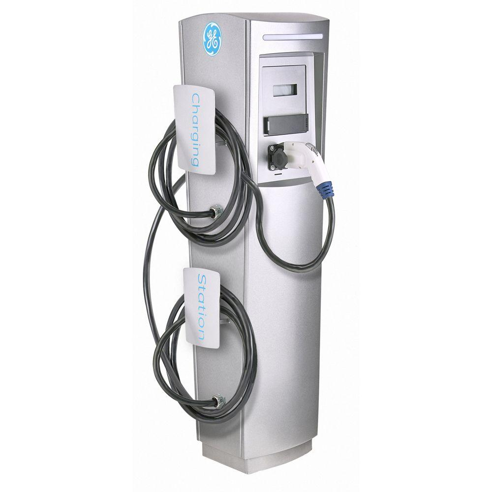 GE EV Charger Double Pedestal DuraStation with RFID Access Control