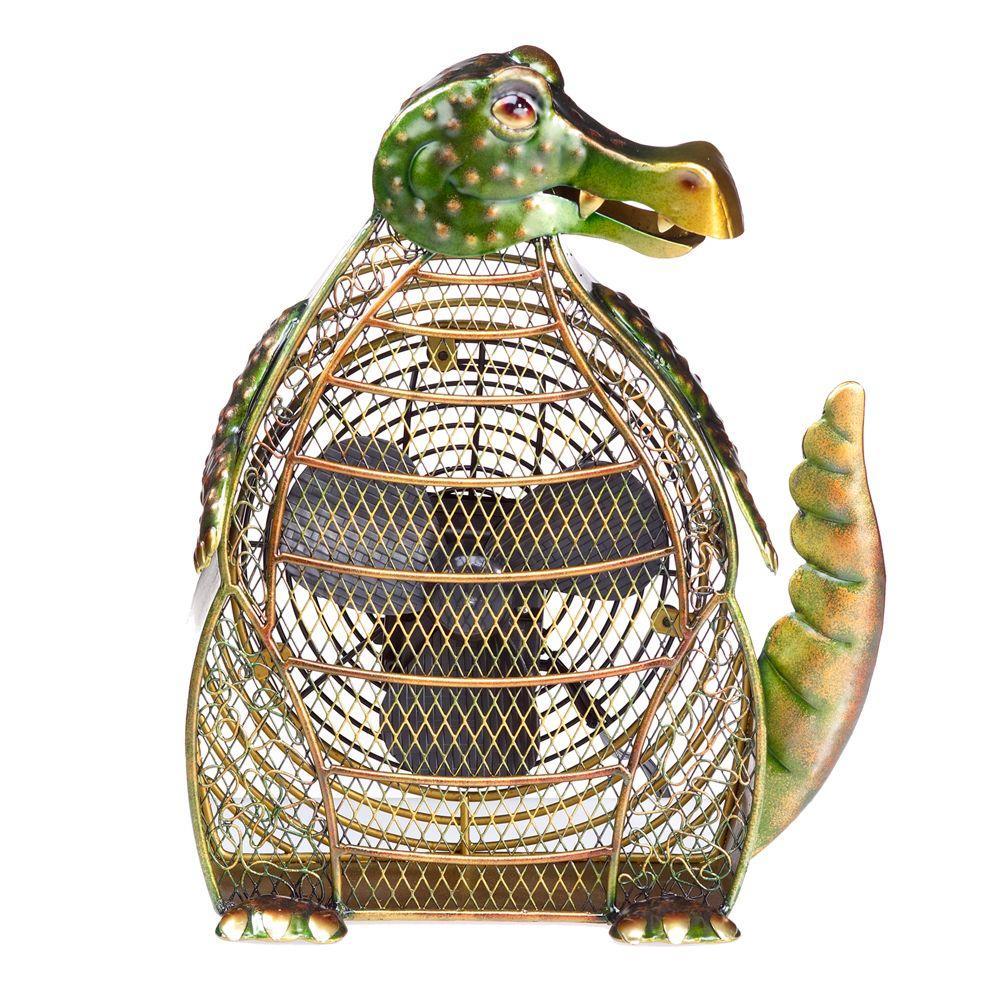Deco Breeze 7 in. Figurine Fan-Alligator