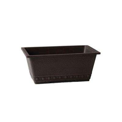 13 in. x 9 in. x 5-1/2 in. Chocolate PSW Window Box