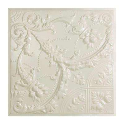 Saginaw 2 ft. x 2 ft. Lay-in Tin Ceiling Tile in Antique White