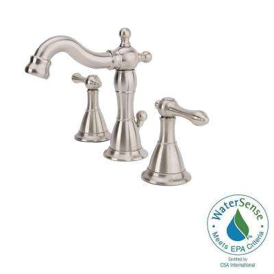 Bellver 8 in. Widespread 2-Handle Mid-Arc Bathroom Faucet in Brushed Nickel
