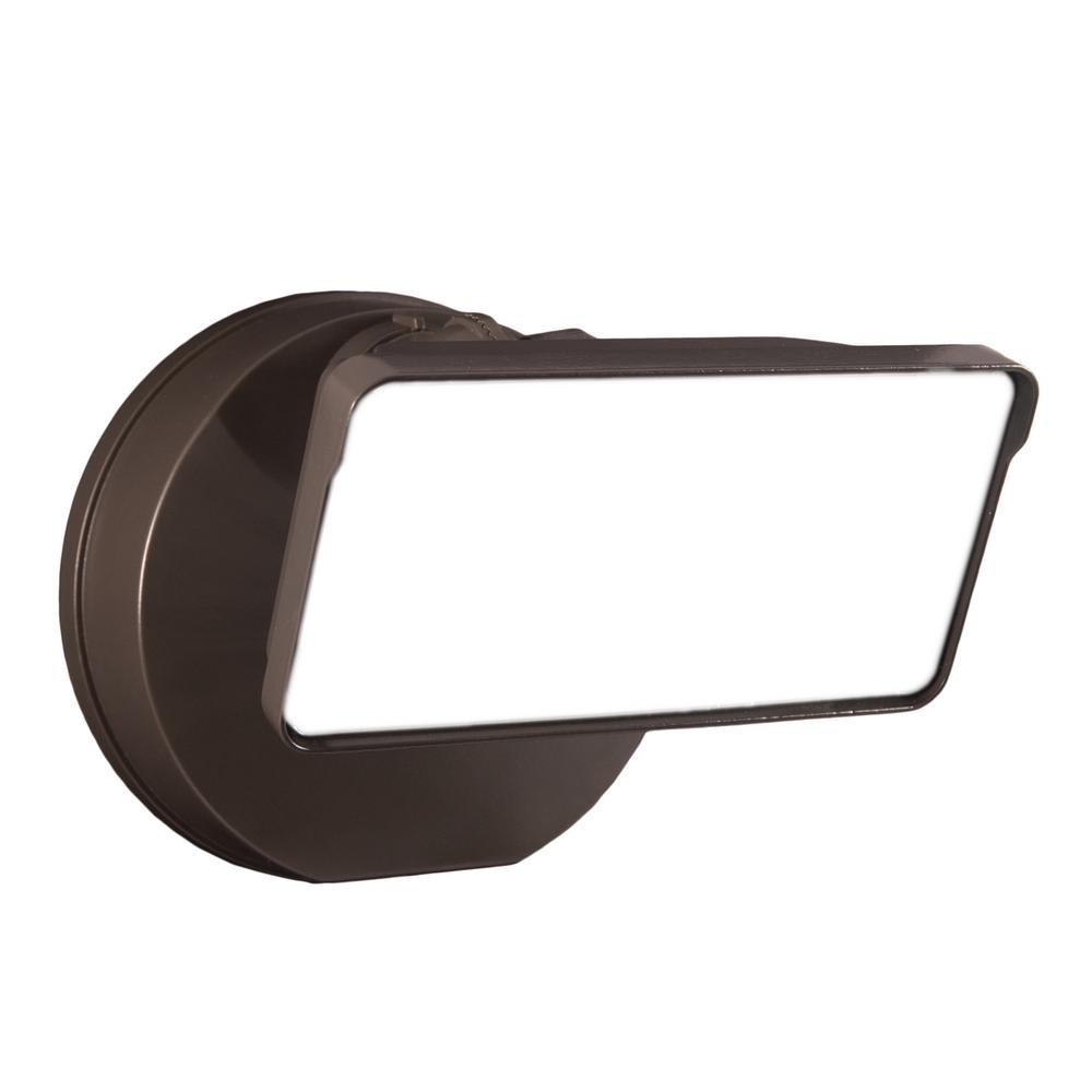TGS 3000 Lumens Bronze Square Single Head Outdoor Integrated LED Flood Light