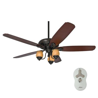 Torrence 64 in. Indoor Provence Crackle Bronze Ceiling Fan with Light Kit with Remote Control