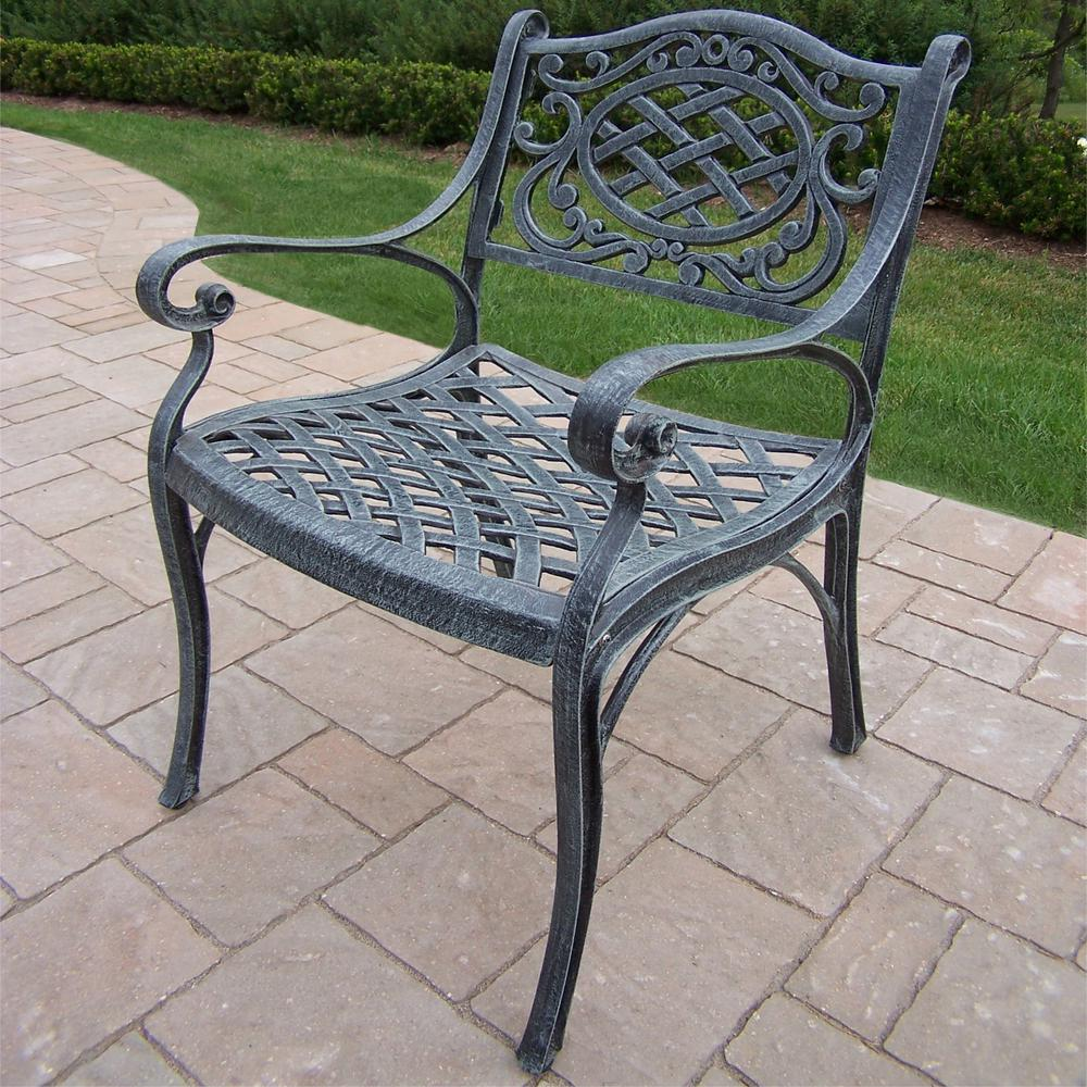 Mississippi Verdi Grey Aluminum Outdoor Dining Chair