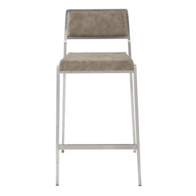 Amani Counter Stool 26 in. Retro Taupe Stainless Steel Base (Set of 2)