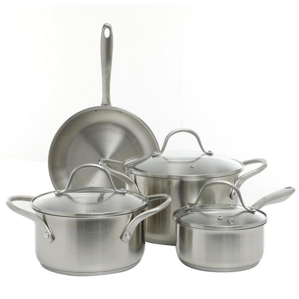 Gainsford 7-Piece Stainless Steel Cookware Set with Lids
