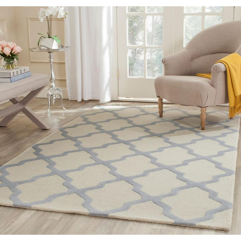 Cambridge Ivory/Light Blue 6 ft. x 9 ft. Area Rug