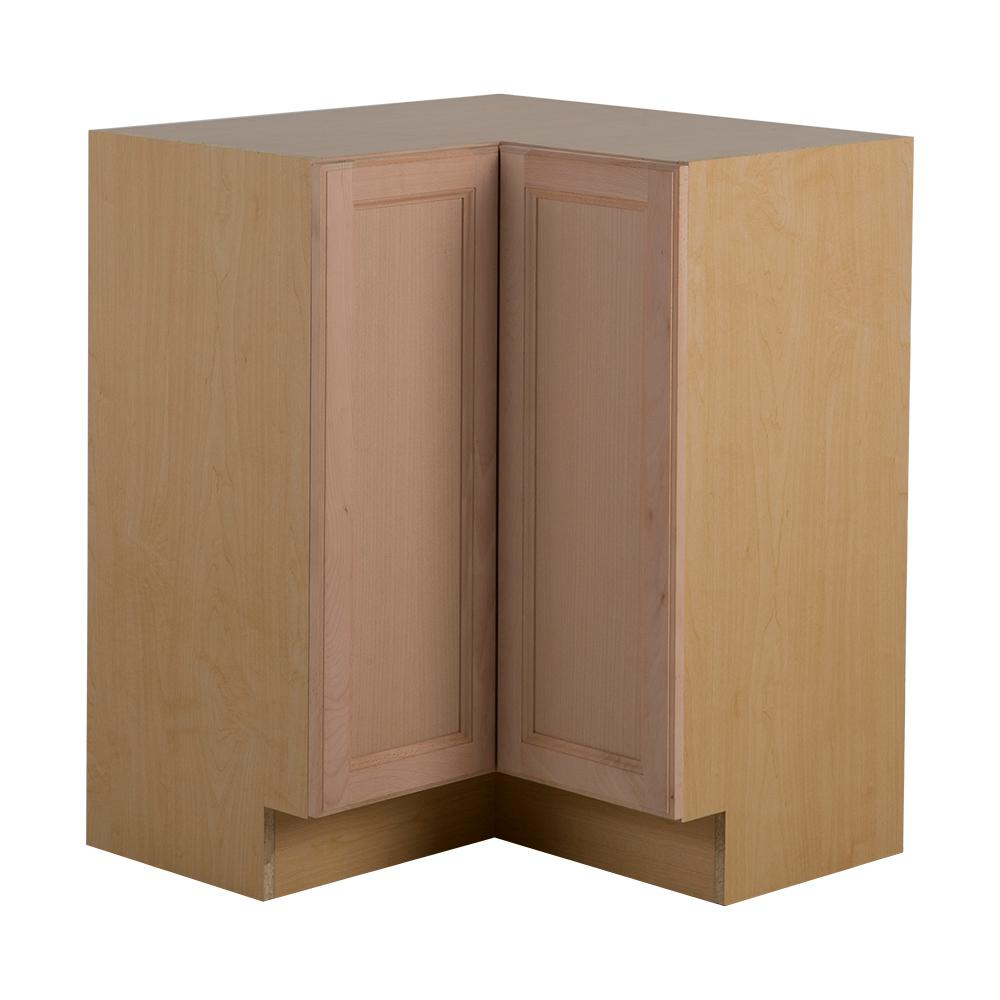 24 inch kitchen base corner cabinet outside kitchen with for Unfinished furniture
