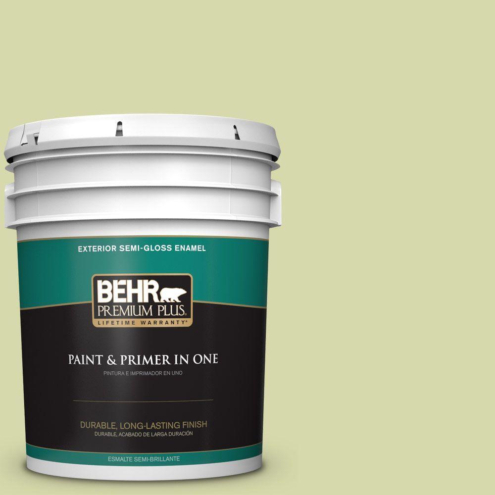 5-gal. #410C-3 Celery Sprig Semi-Gloss Enamel Exterior Paint