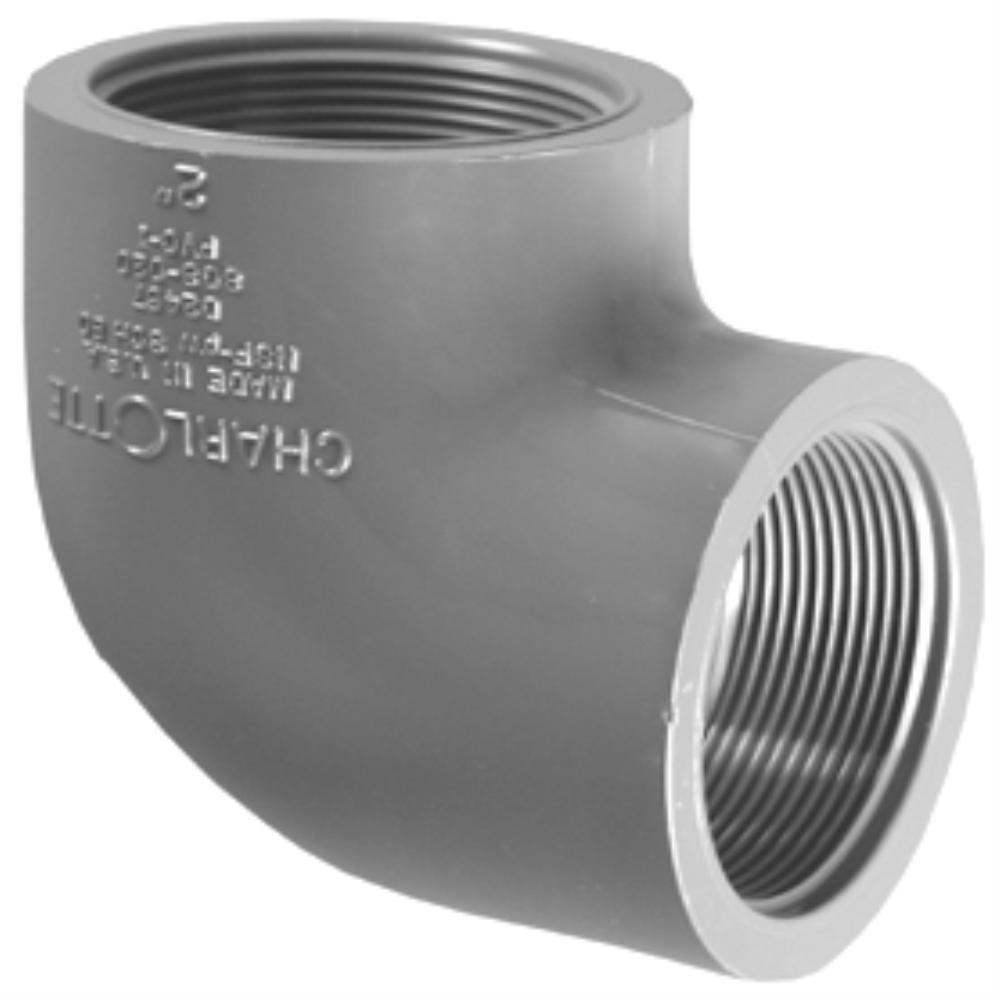1-1/2 PVC SCH 80 90-Degree Elbow FPTXFPT