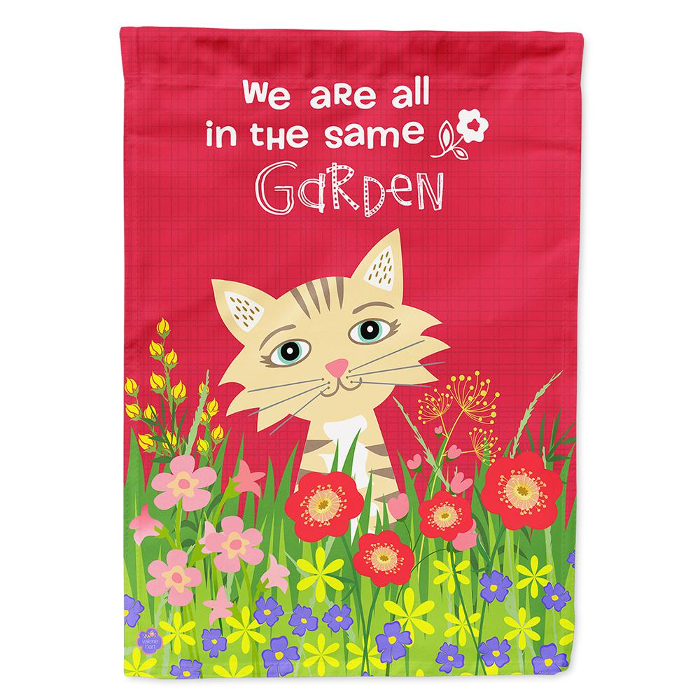 Caroline S Treasures 28 In X 40 In Polyester Garden Cat Flag Canvas House Size 2 Sided Heavyweight Vha3009chf The Home Depot