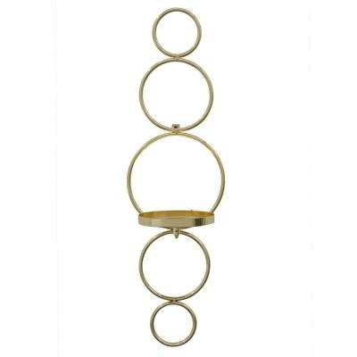 5.75 in. x 5 in. Gold Wall Sconce