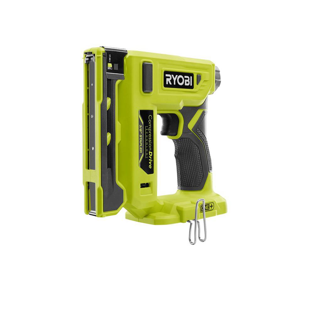 RYOBI 18-Volt ONE+ Cordless Compression Drive 3/8 in. Crown Stapler (Tool Only)