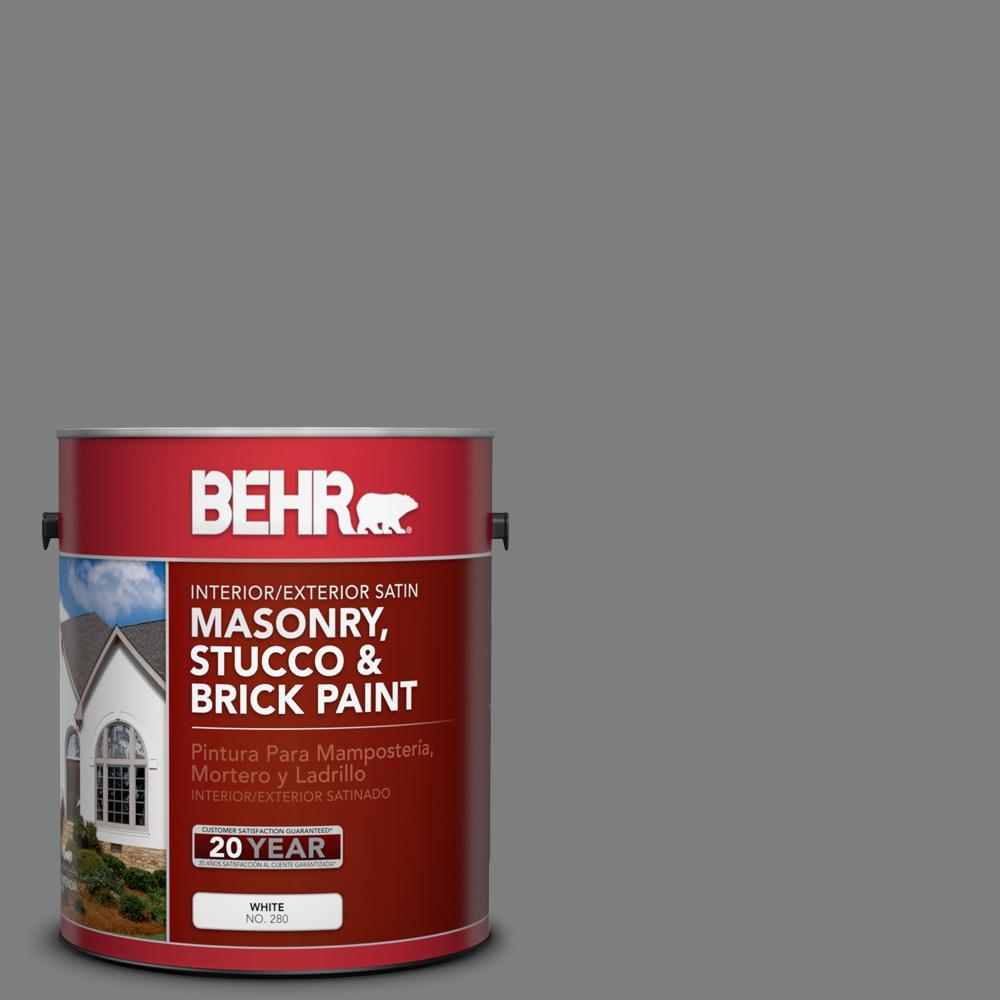 1 gal. #6695 Slate Gray Satin Interior/Exterior Masonry, Stucco and Brick Paint