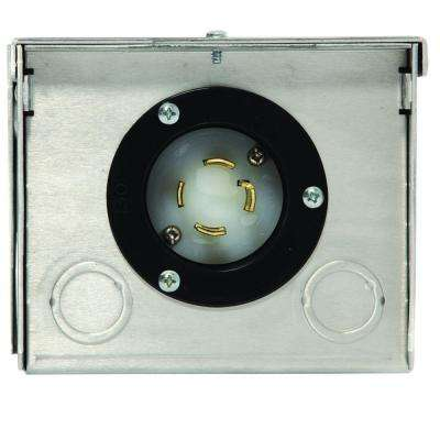 30-Amp Raintight Aluminum Plug in Box