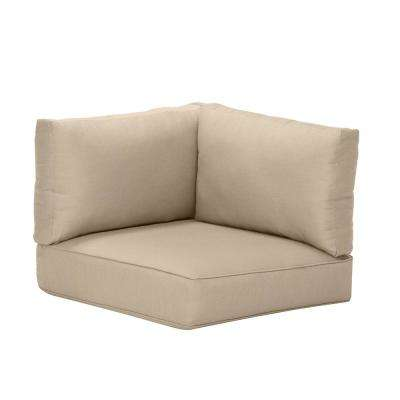 Commercial Grade Left Arm, Right Arm, or Corner Outdoor Sectional Chair Cushion in Sunbrella Canvas Antique Beige