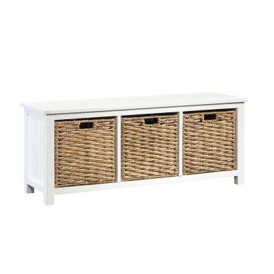 Cottage Road White Storage Bench