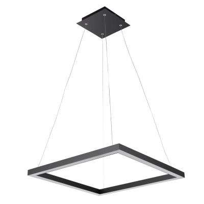 Modern 30-Watt Matte Black Integrated LED Pendant