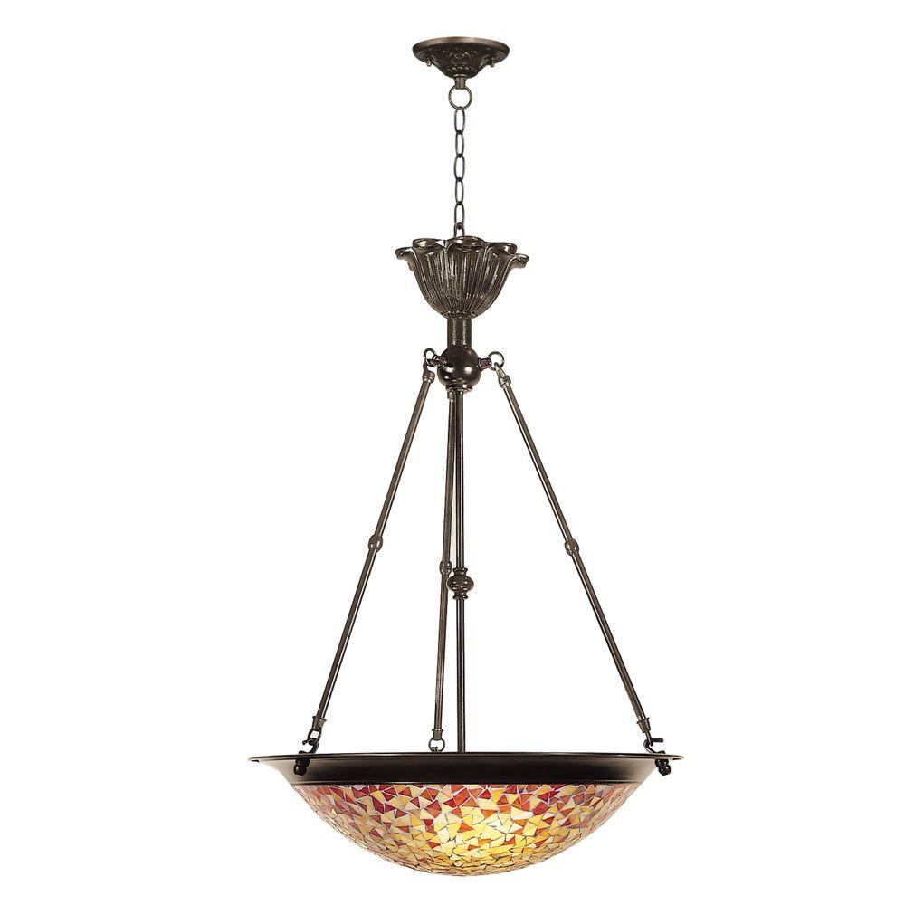 Dale Tiffany 3-Light Fieldstone Cassidy Mosaic Hanging Fixture-DISCONTINUED