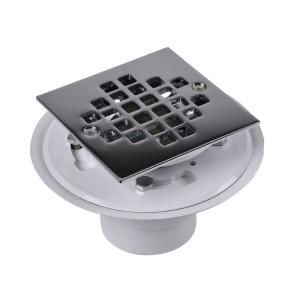 Oatey 2 In Or 3 In Pvc Drain With Square Stainless Steel
