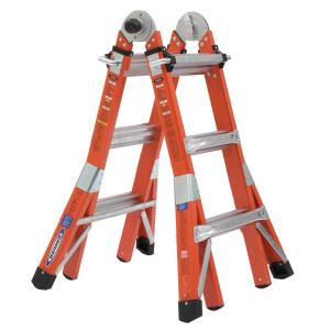 WERNER 14 ft. Reach Height Multi-Purpose Fiberglass PRO Ladder with 300 lbs. Load Capacity Type IA