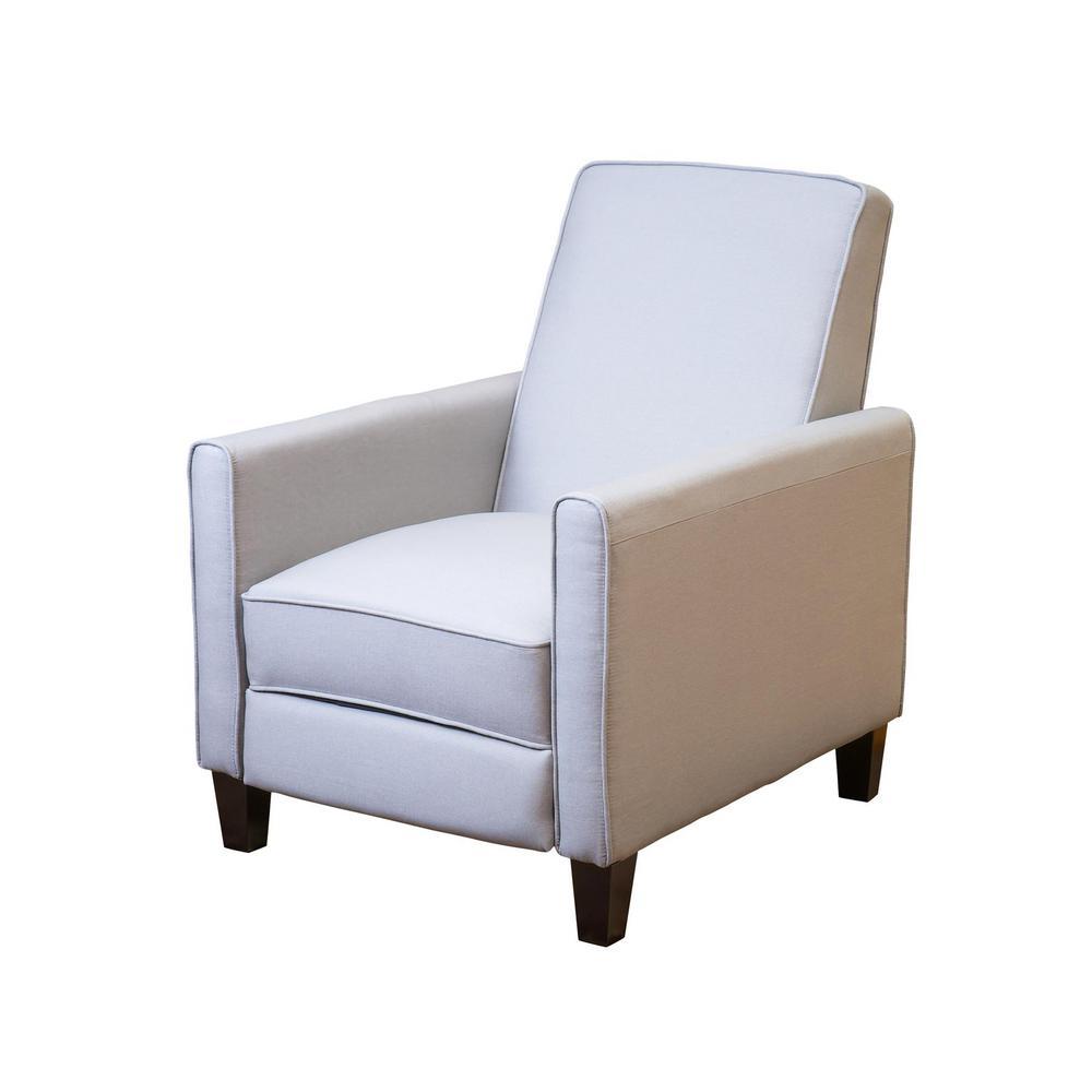 Darvis Light Grey Fabric Recliner Club Chair