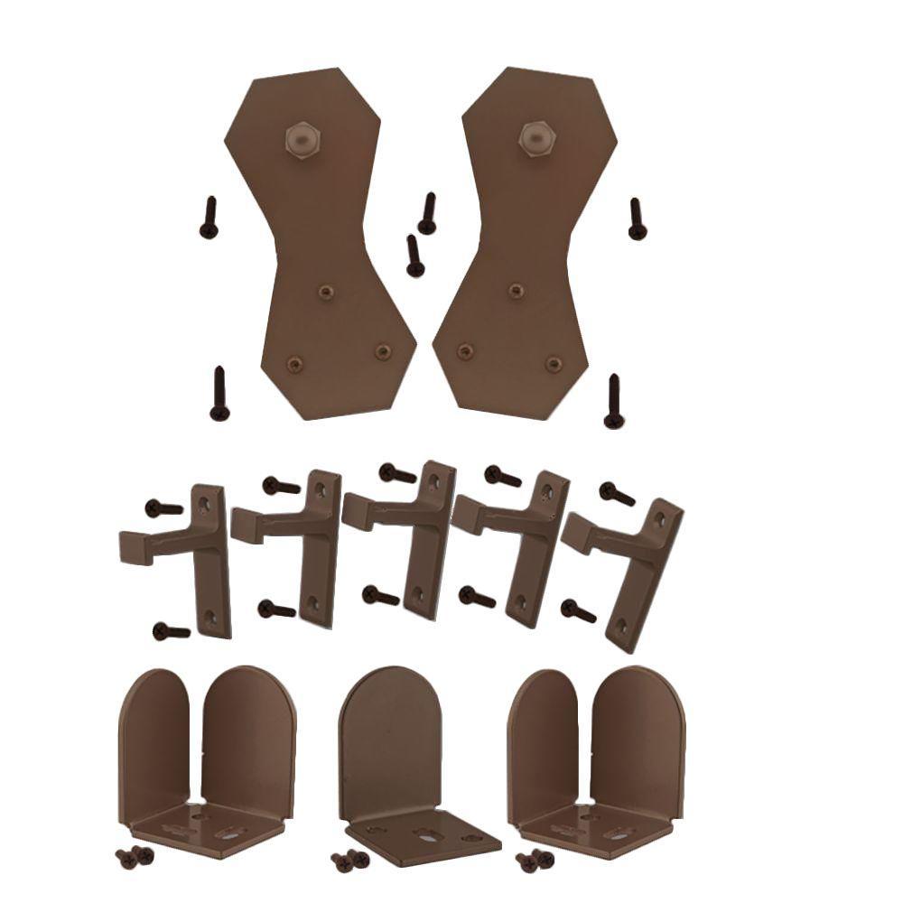 Quiet Glide 3/4 in. - 1-1/2 in. Castle 2 Oil Rubbed Bronze Rolling Door Hardware Kit