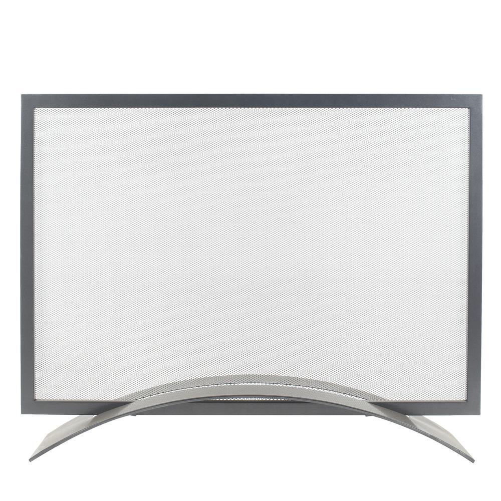Orion Gun Metal Gray Steel 1-Panel Fireplace Screen