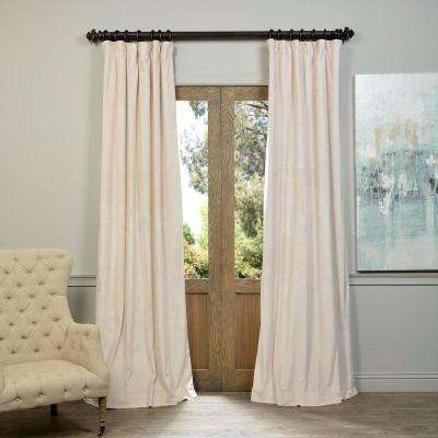 Blackout Signature Ivory Blackout Velvet Curtain - 50 in. W x 108 in. L (1 Panel)