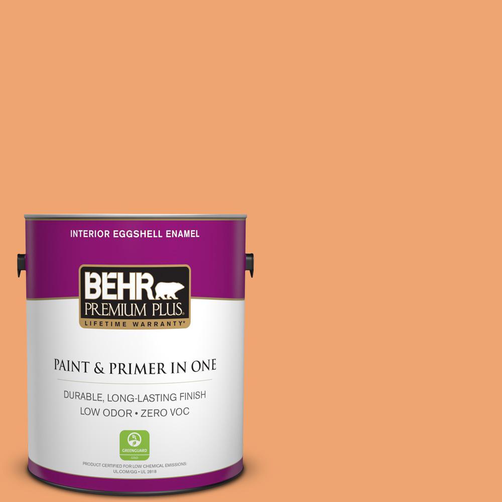1 gal. #HDC-SP16-04 Apricot Jam Zero VOC Eggshell Enamel Interior Paint