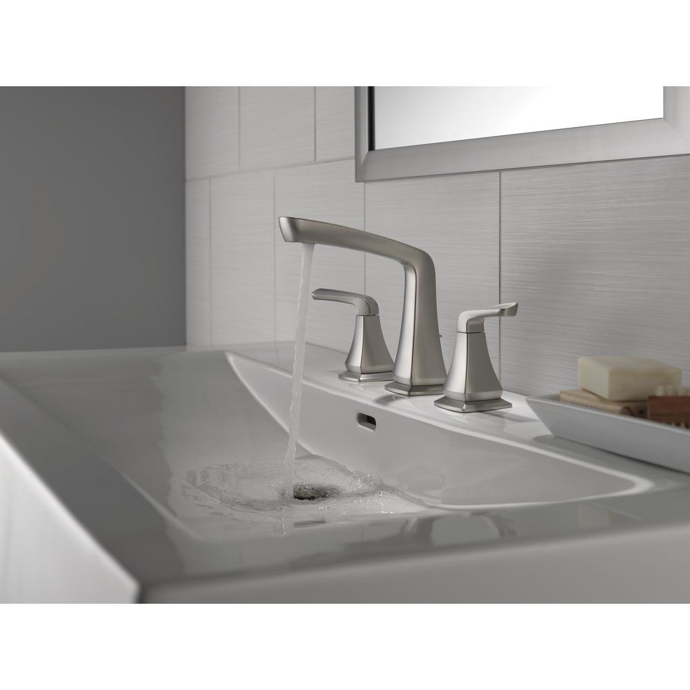 Vesna 8 in. Widespread 2-Handle Bathroom Faucet in SpotShield Brushed Nickel