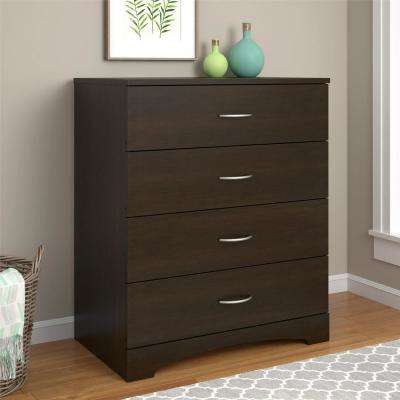 Crescent Point 4-Drawer Espresso Dresser