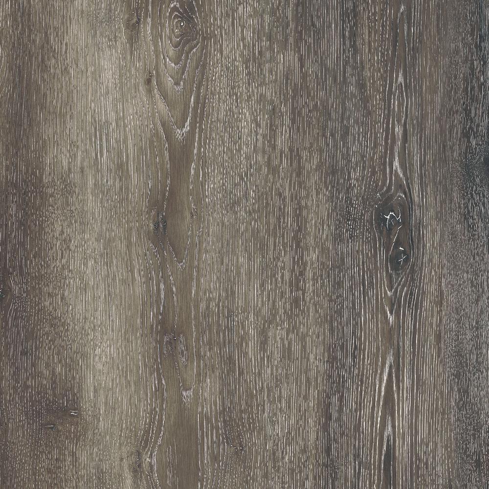 Take Home Sample - Dark Grey Oak Luxury Vinyl Flooring - 4 in. x 4 in.