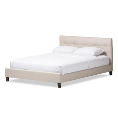 Annette Beige Full Upholstered Bed