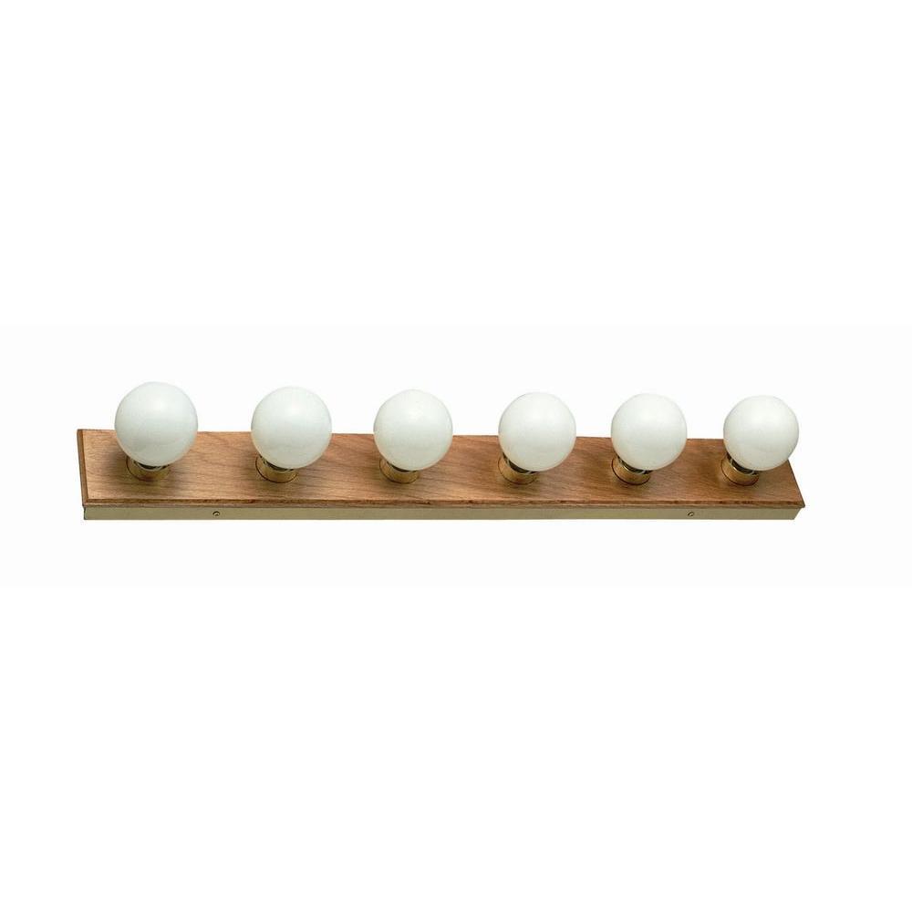 Design House 6-Light Honey Oak Vanity Light