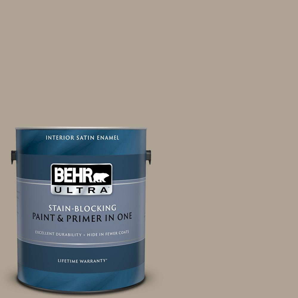 Behr Ultra 1 Gal 730d 4 Garden Wall Satin Enamel Interior Paint And Primer In One