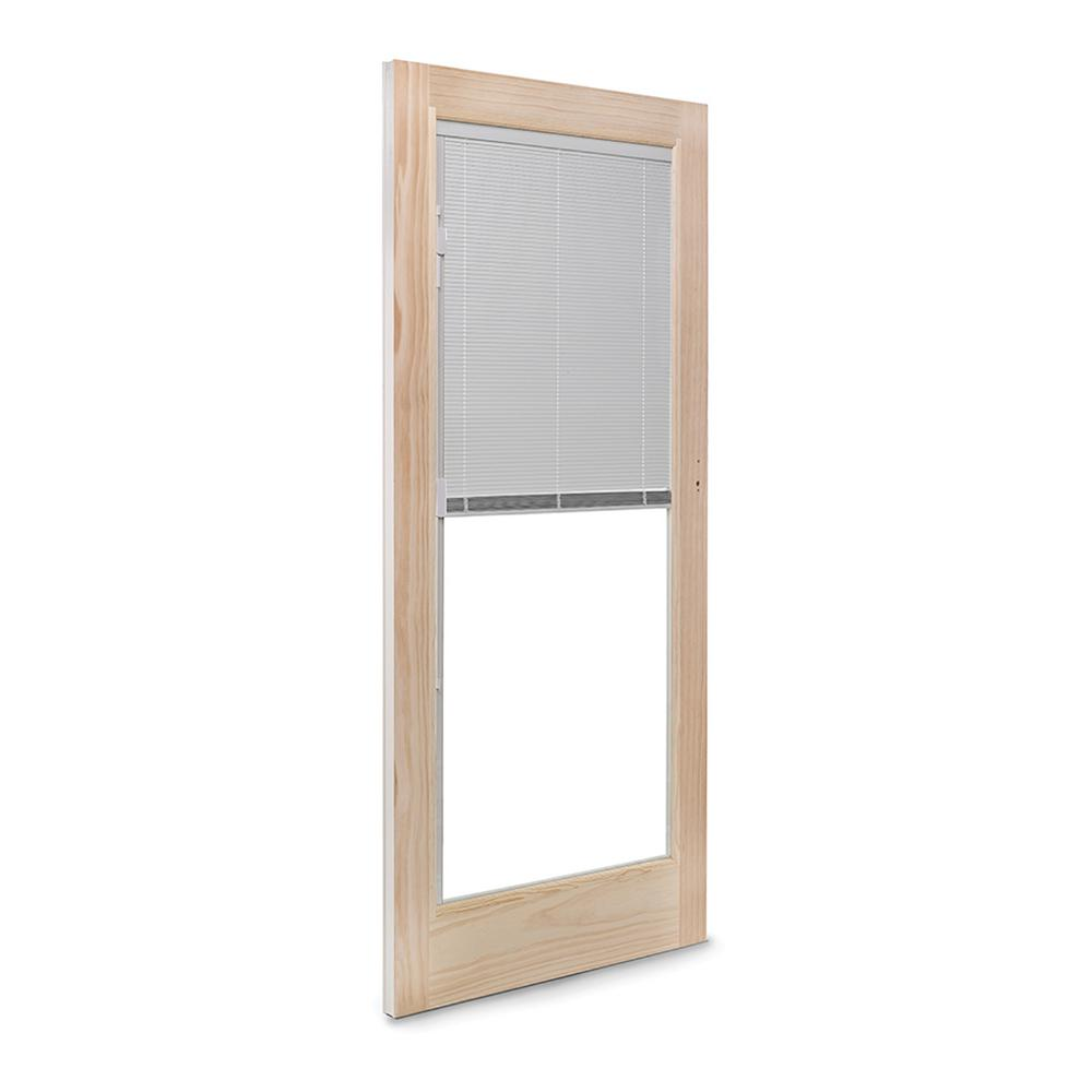 72 in. x 80 in. 400 Series Frenchwood White Left-Hand Sliding