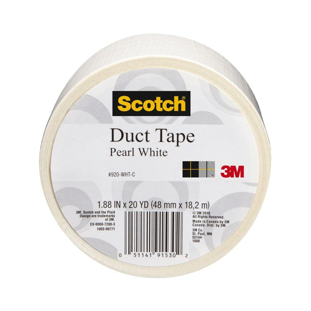 Scotch 1.88 in. x 20 yds. White Duct Tape (Case of