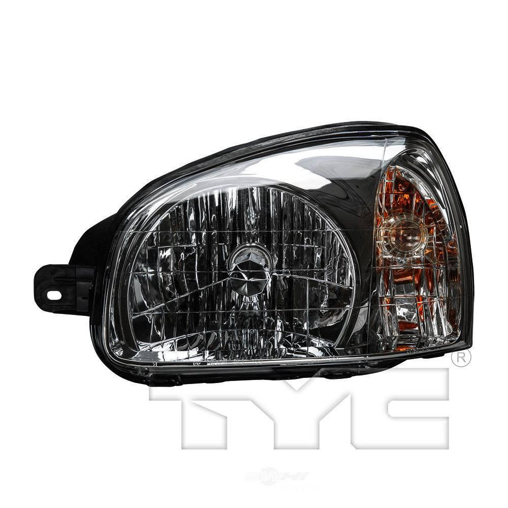 tyc headlight assembly 2003 2004 hyundai santa fe 2 4l 20 6402 80 the home depot tyc headlight assembly 2003 2004 hyundai santa fe 2 4l