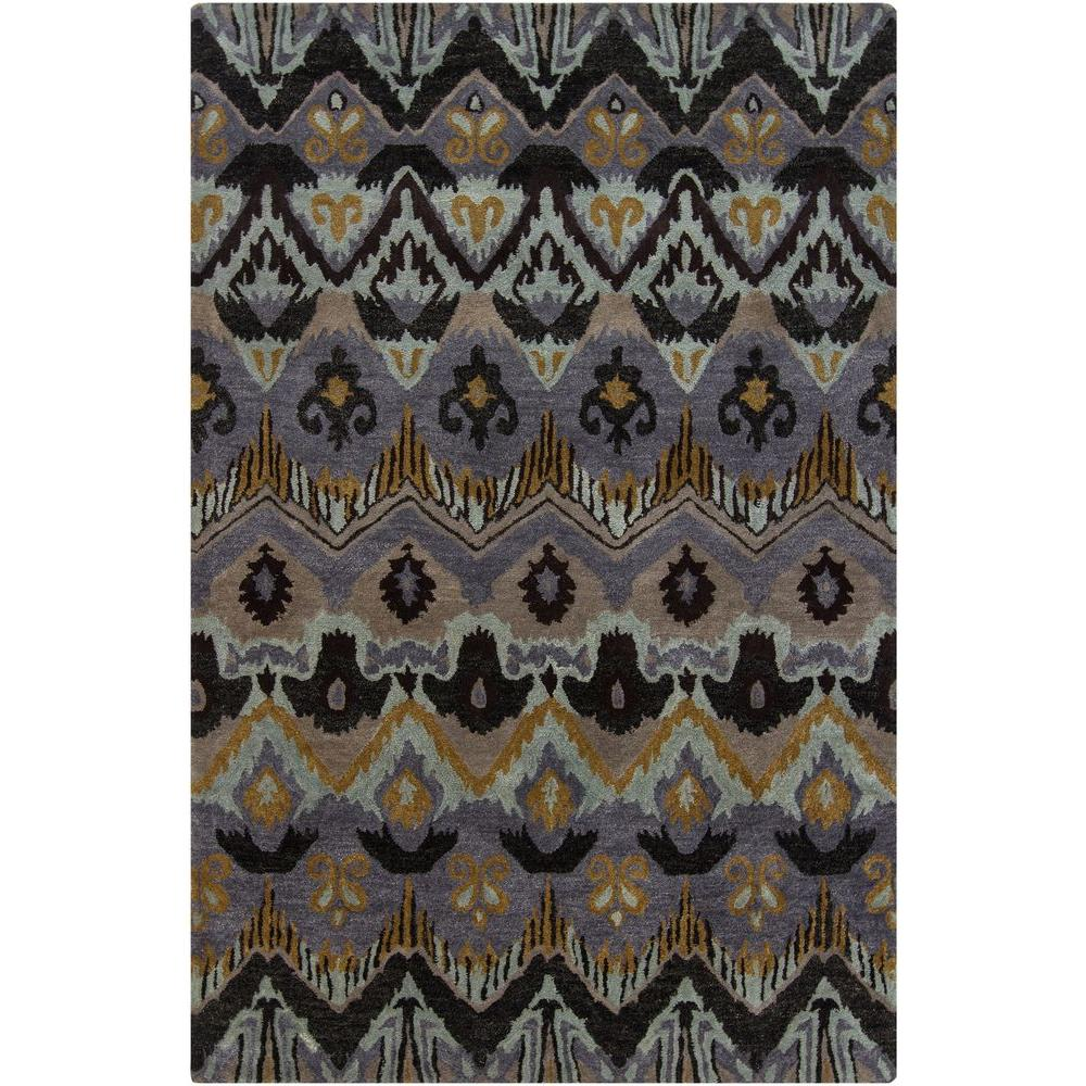 Chandra Rupec Grey/Taupe/Gold/Black 7 ft. 9 in. x 10 ft. 6 in. Indoor Area Rug