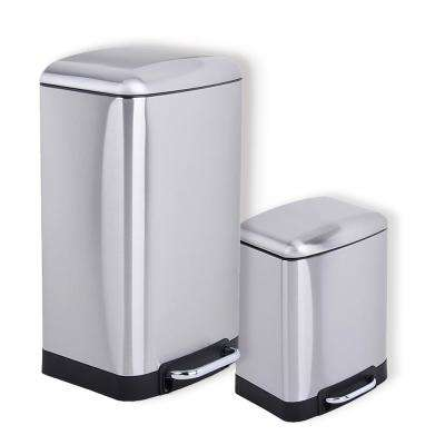Utopia Alley Rikki Step On Trash Can, Set of 2, 6L and 30L