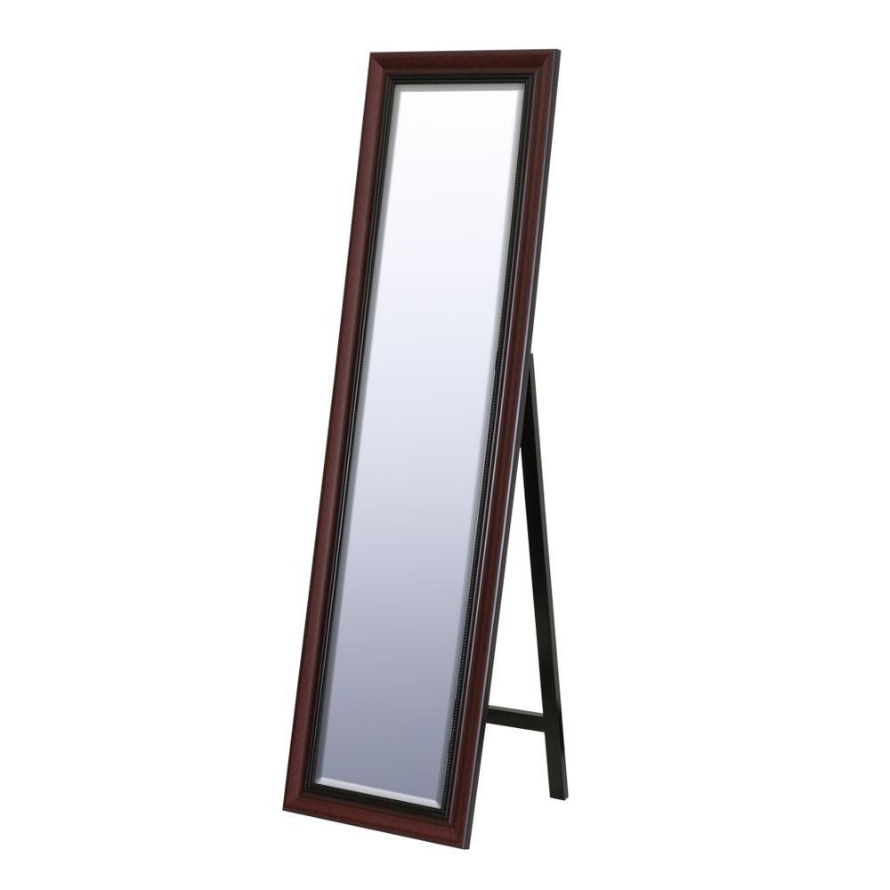 Deco Mirror 18 in. x 64 in. Traditional Floor Mirror in Cherry-DISCONTINUED
