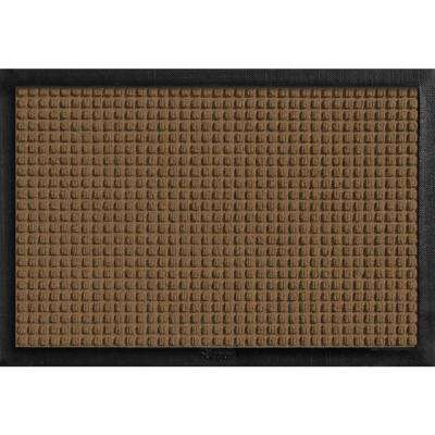 Aqua Shield with Rubber Border Dark Brown 17.5 in. x 26.5 in. Pet Mat